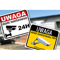Tablica Monitoring CCTV ostrzegawcza informacyjna