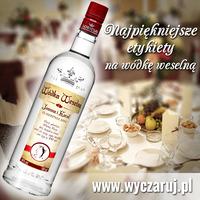 Etykiety na wódkę weselną Sobieski 500ml