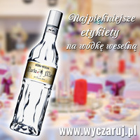 etykiety - naklejki na wodke weselna finlandia 700 ml