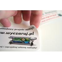etykieta drukowana z własnym projektem
